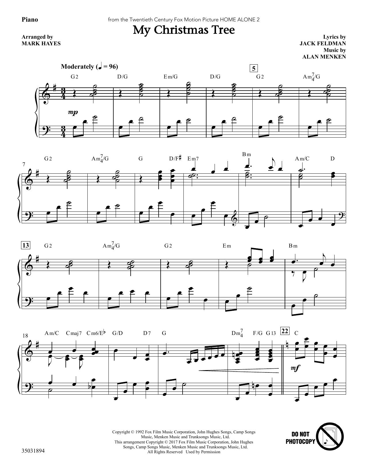 My Christmas Tree - Piano (Choir Instrumental Pak)