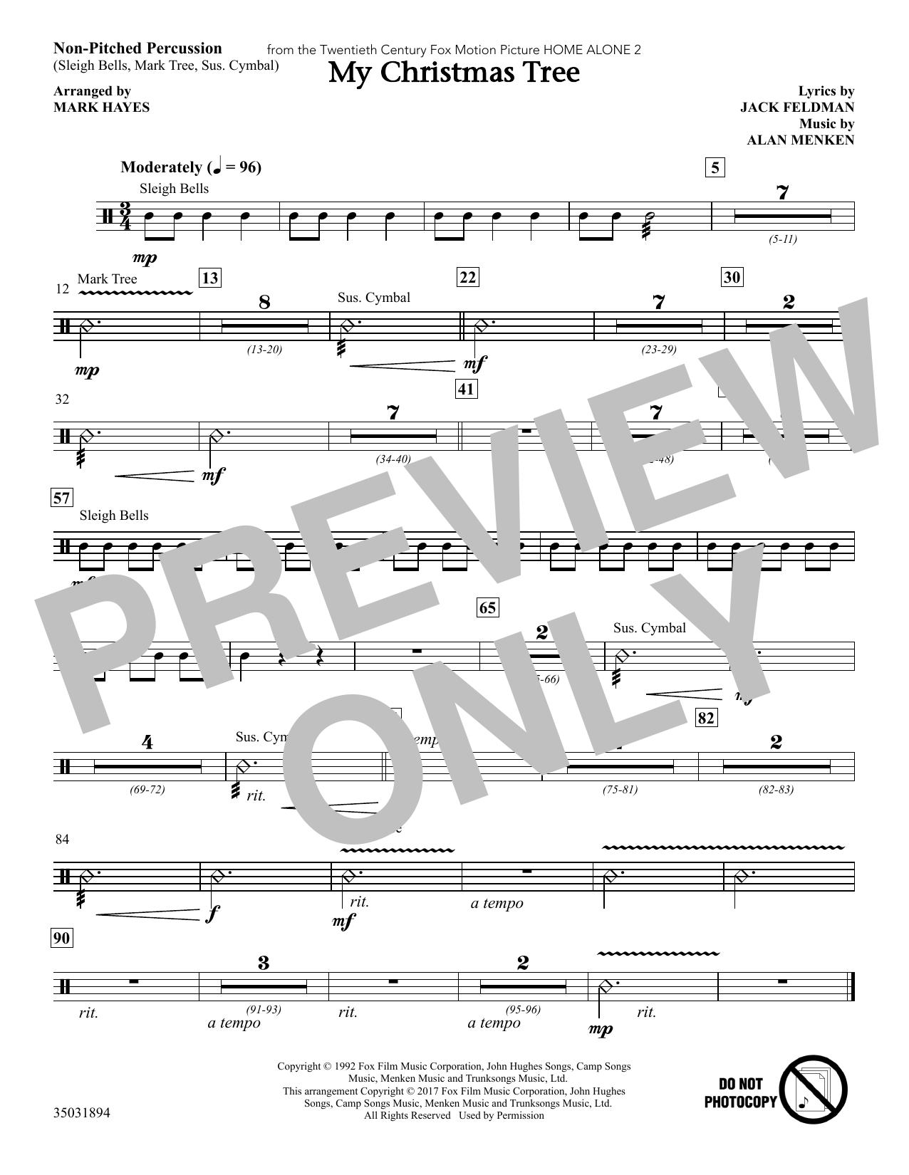My Christmas Tree - Percussion (Choir Instrumental Pak)