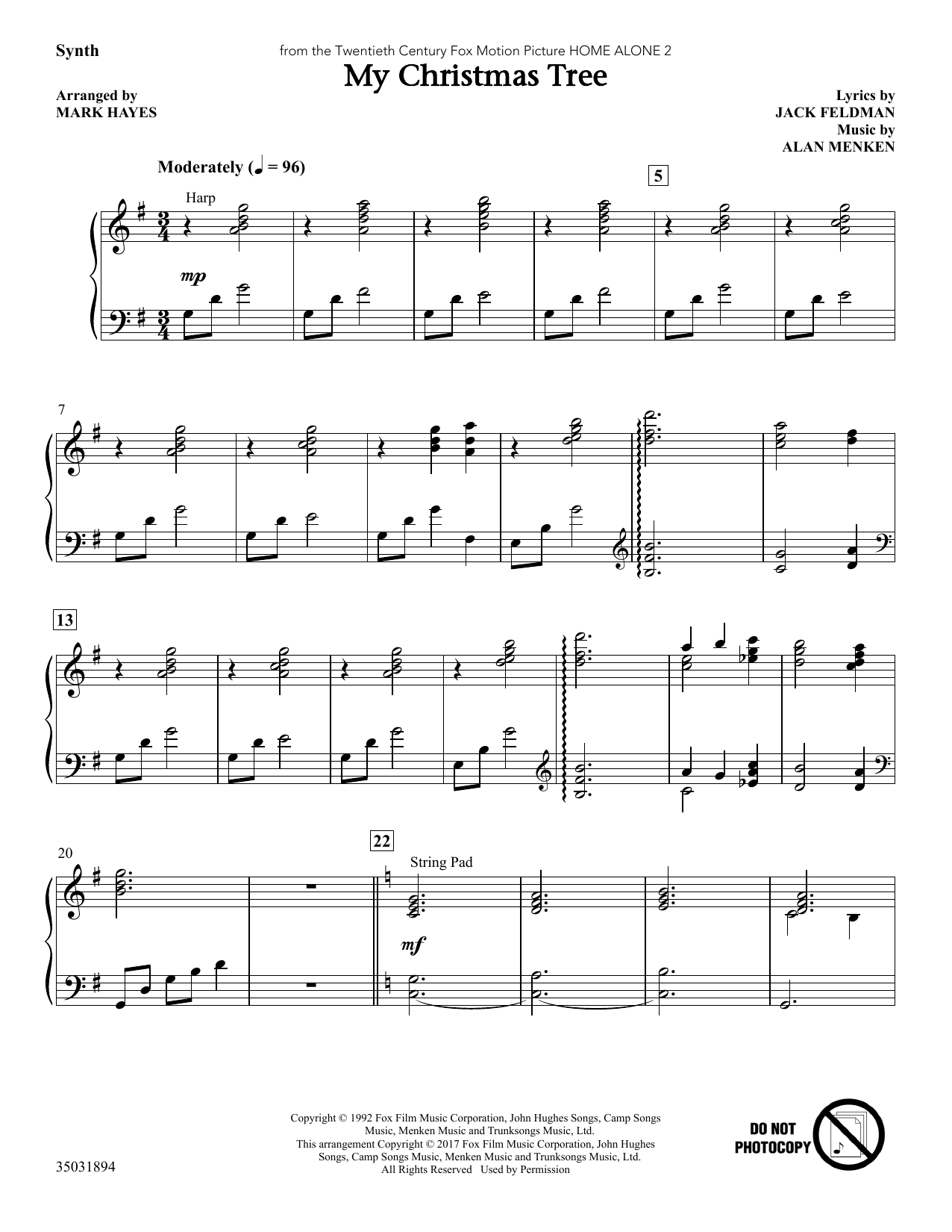 My Christmas Tree - Synthesizer (Choir Instrumental Pak)