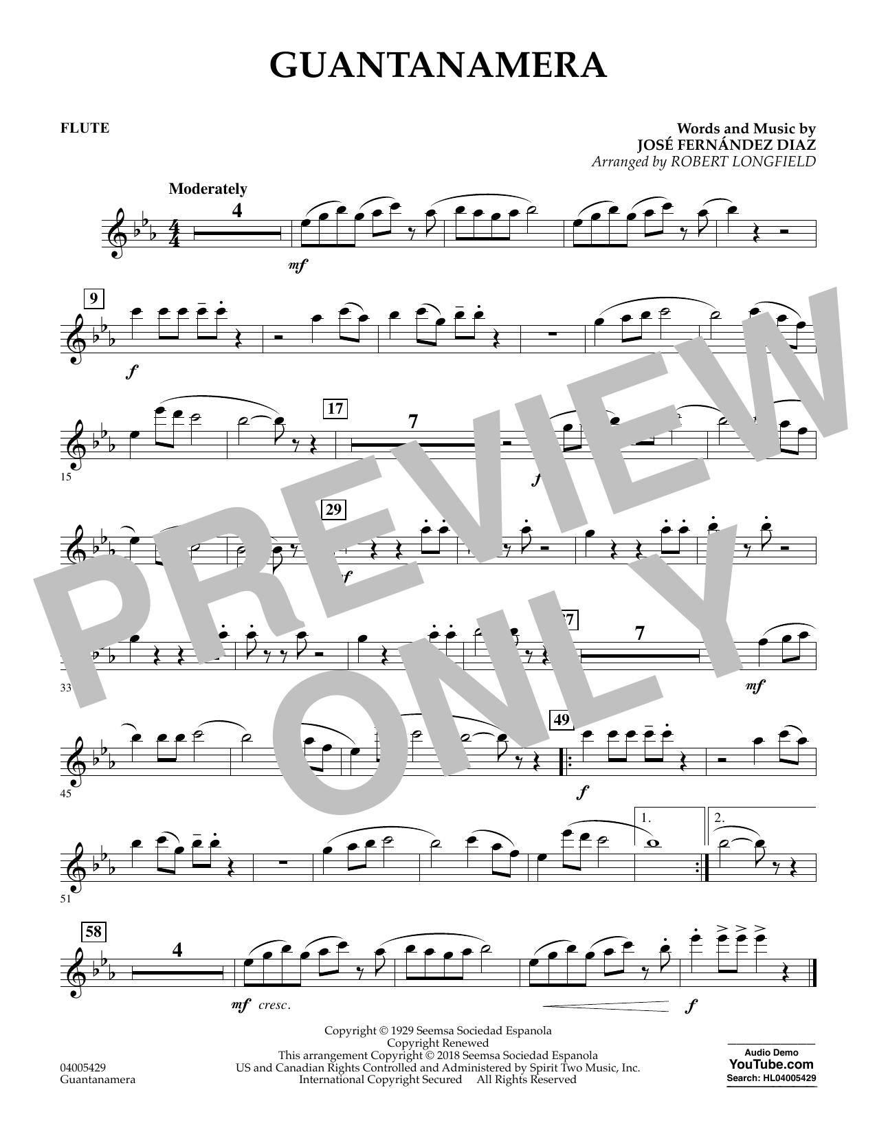 Guantanamera - Flute (Concert Band)
