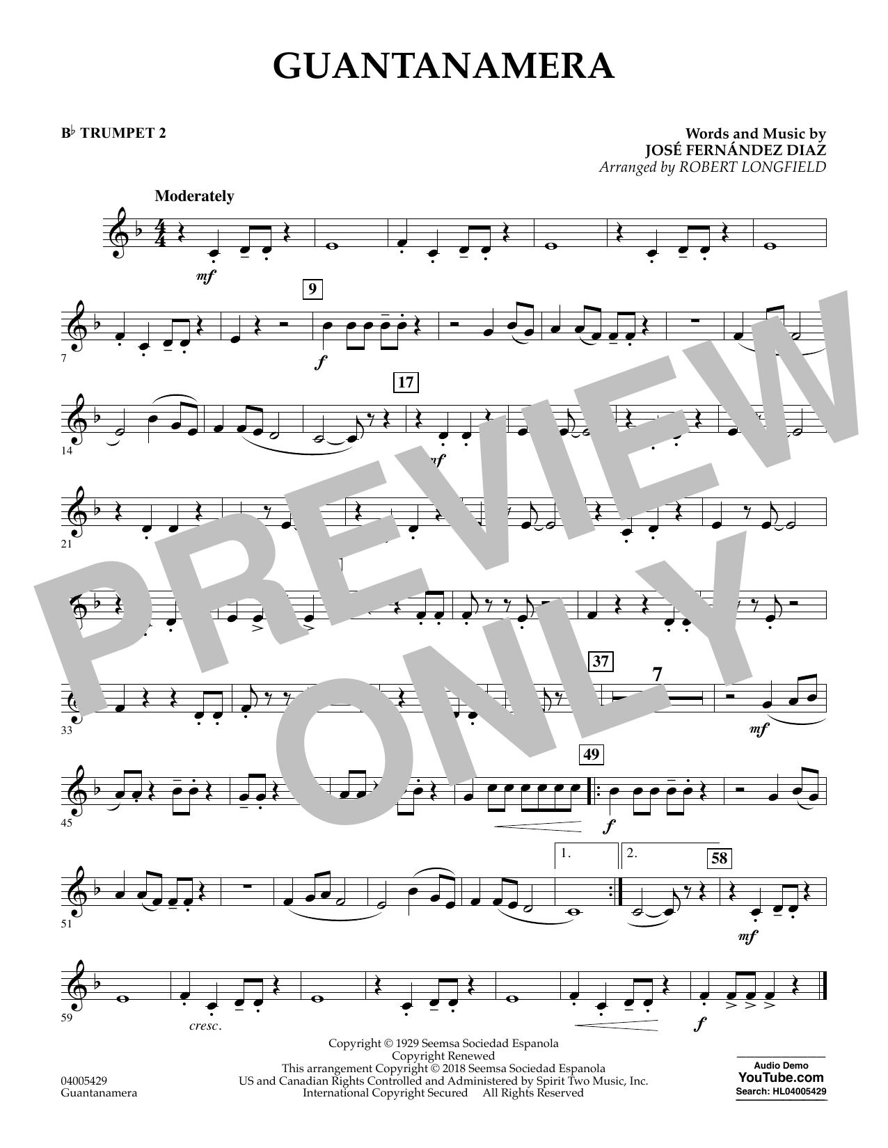 Guantanamera - Bb Trumpet 2 (Concert Band)