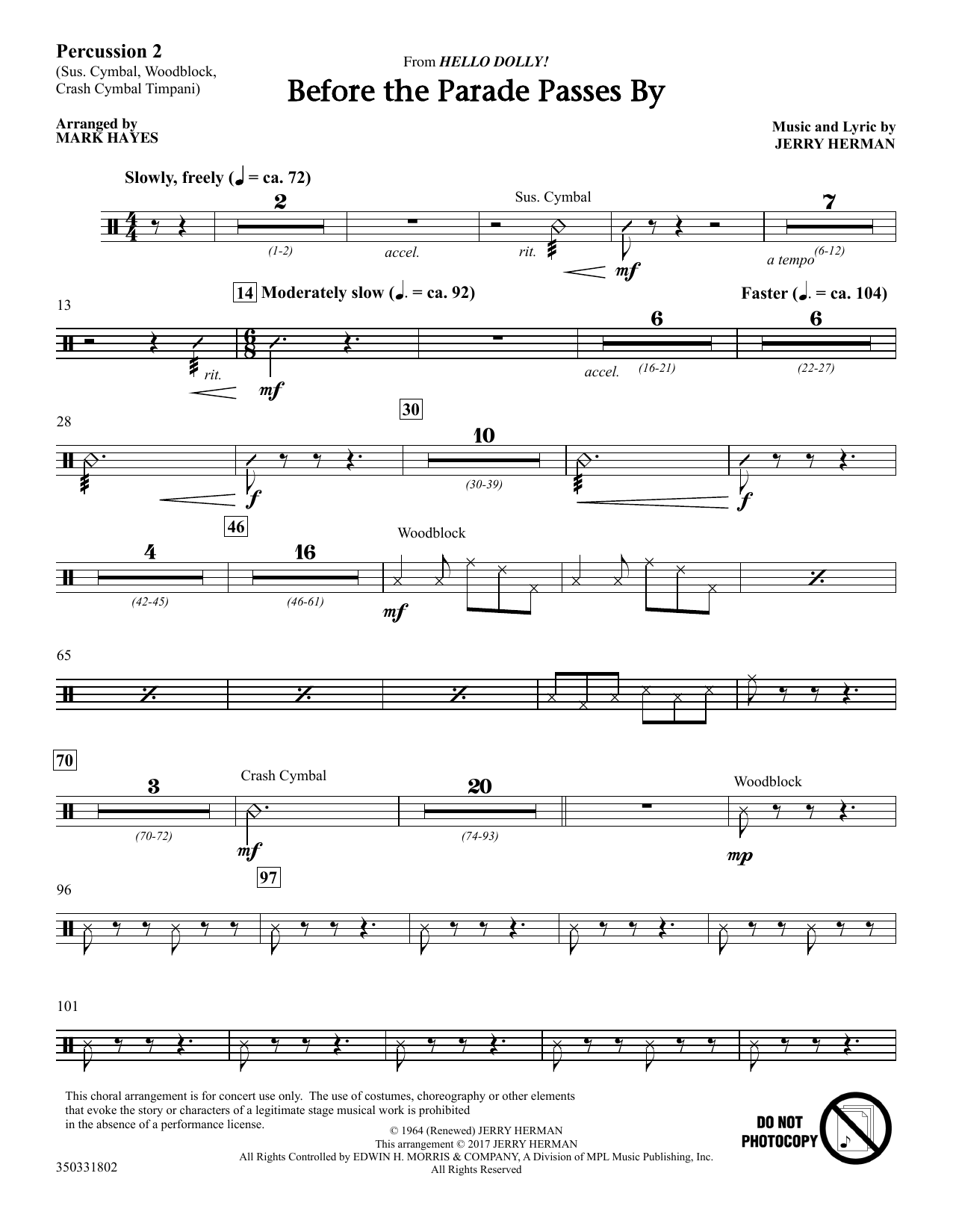 Before The Parade Passes By - Percussion 2 (Choir Instrumental Pak)