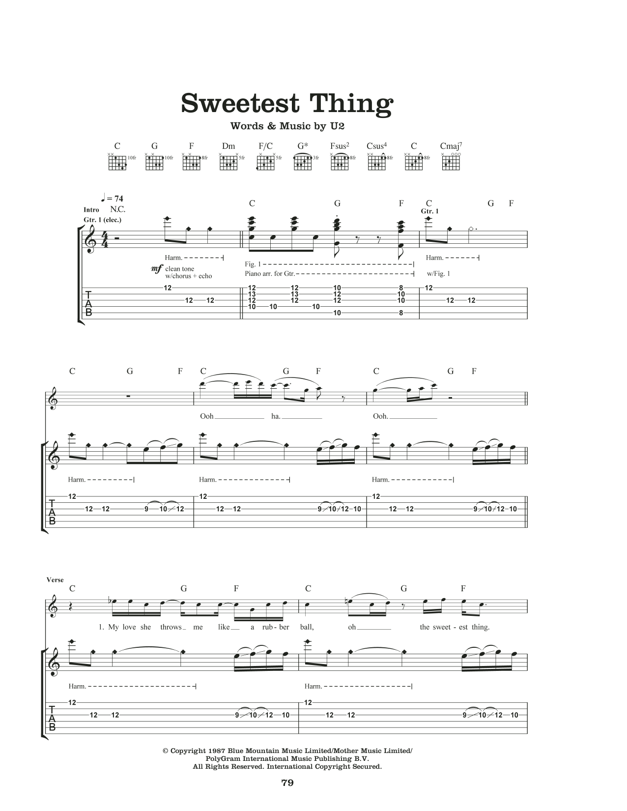 Sweetest Thing Sheet Music