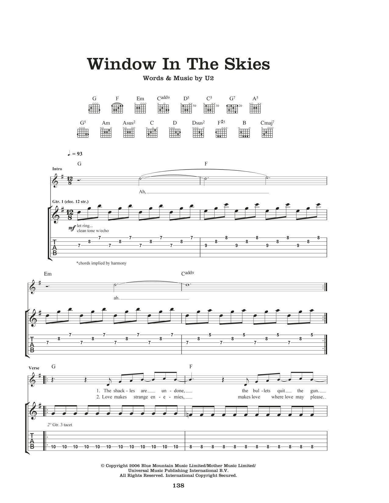 Window In The Skies Sheet Music
