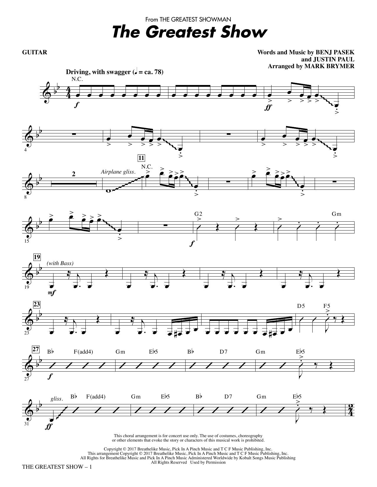 The Greatest Show - Guitar (Choir Instrumental Pak)