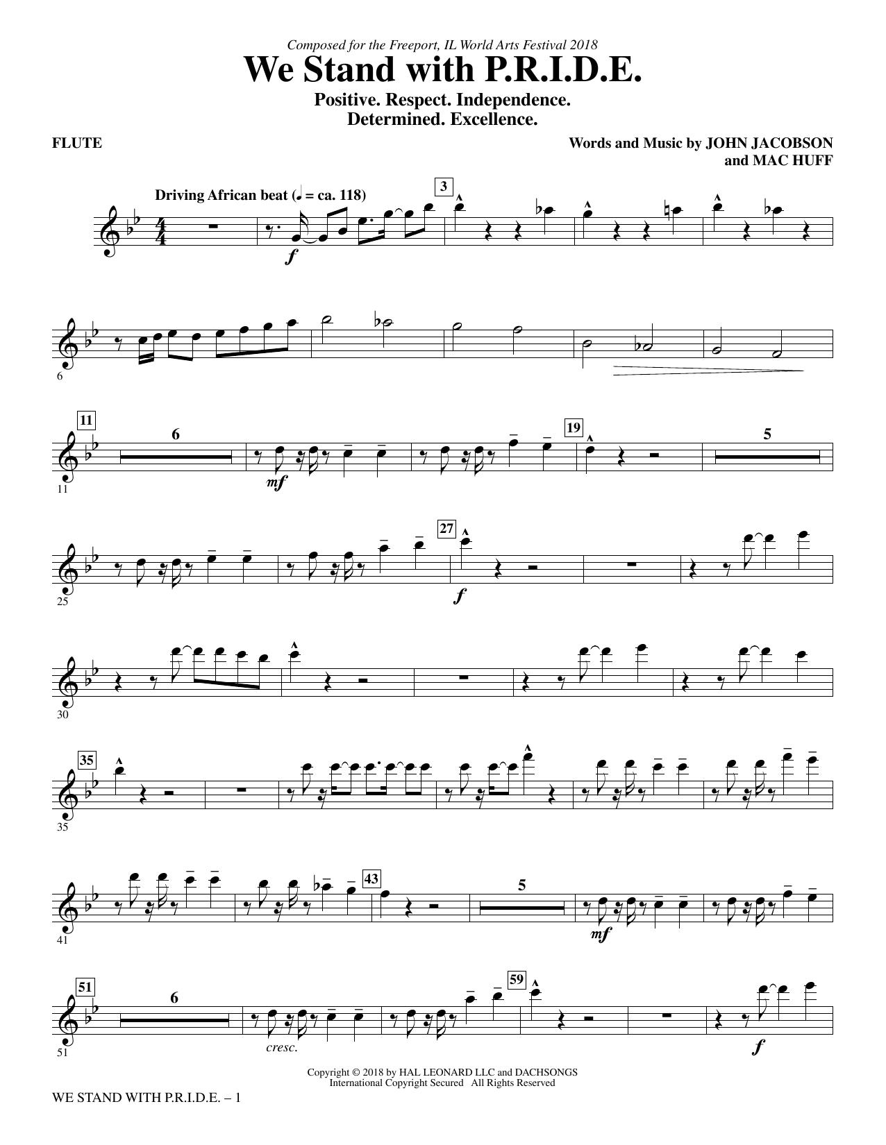 We Stand With P.R.I.D.E. - Flute (Choir Instrumental Pak)
