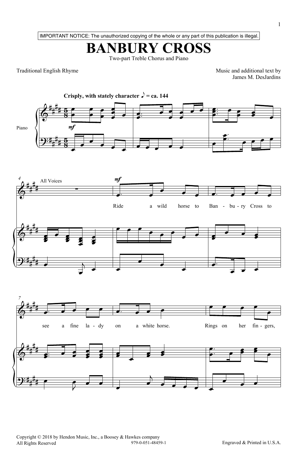 Banbury Cross Sheet Music