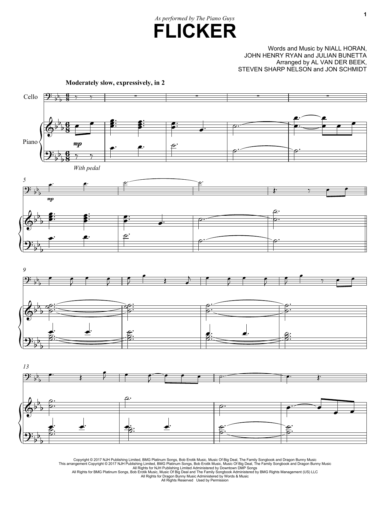 Flicker Sheet Music