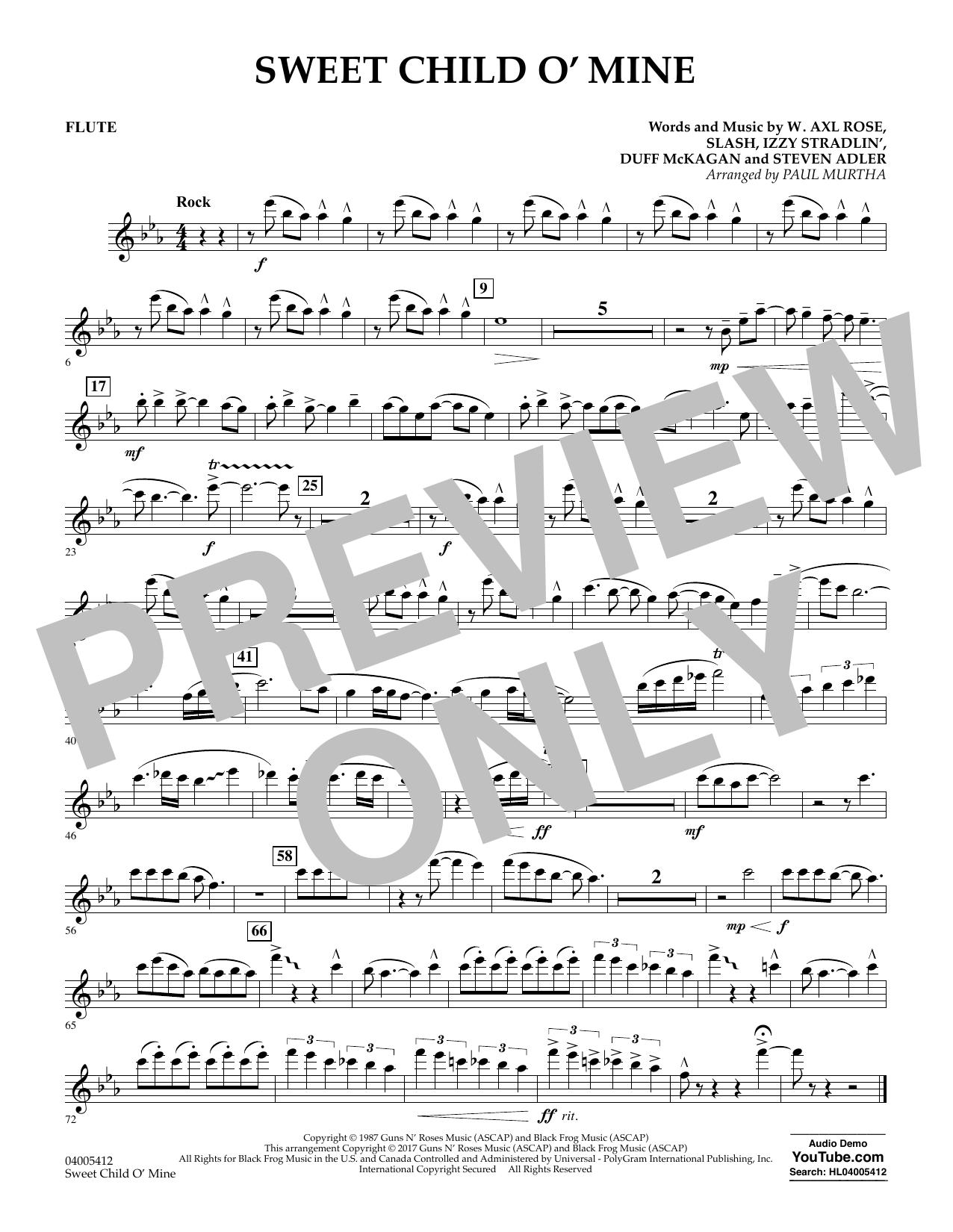 Sweet Child o' Mine - Flute (Concert Band)
