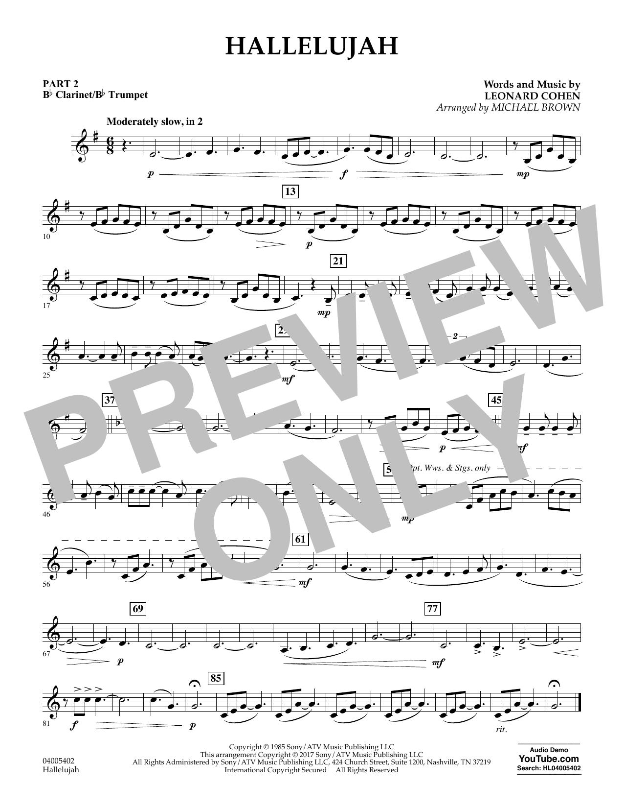 Hallelujah - Pt.2 - Bb Clarinet/Bb Trumpet (Flex-Band)