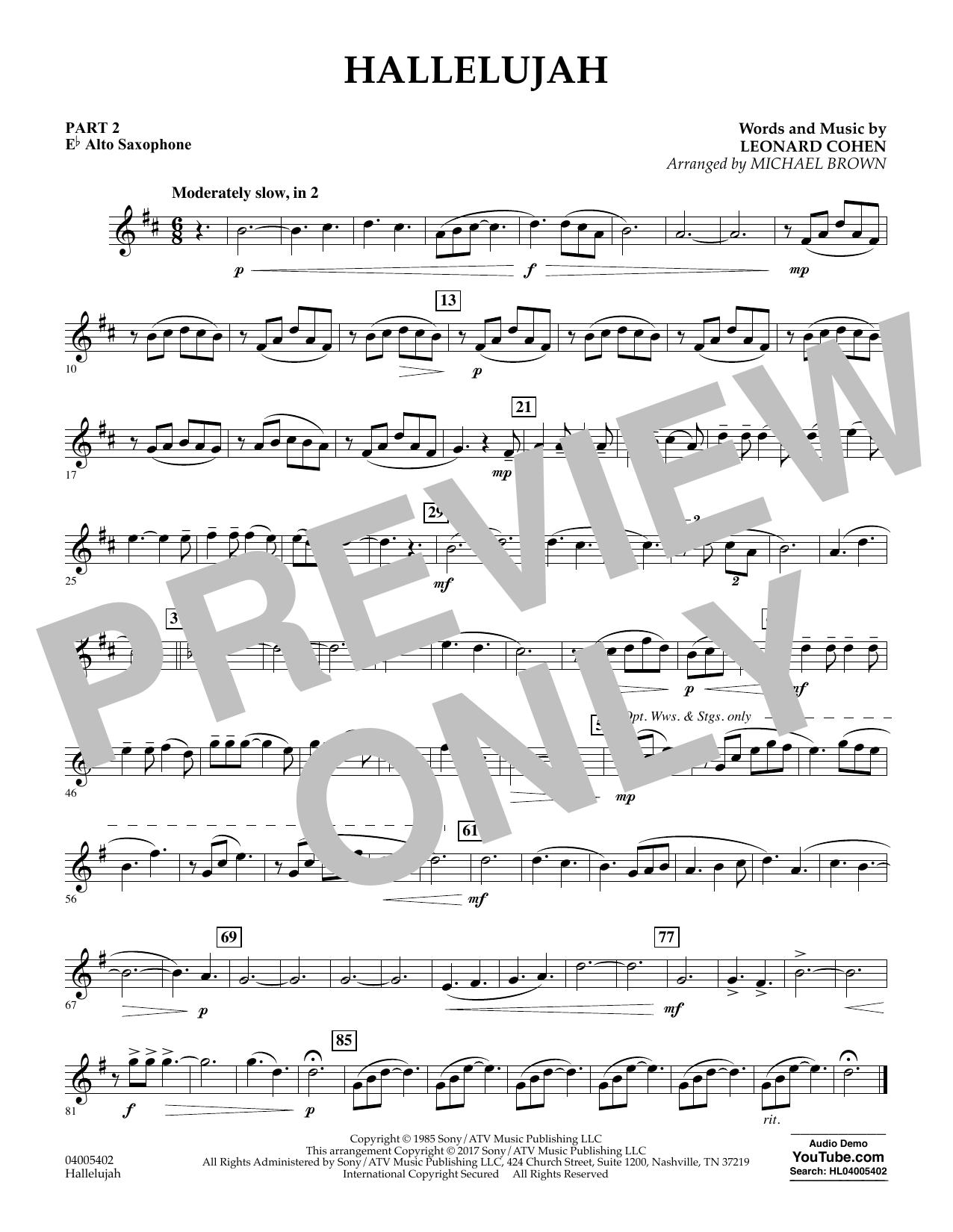 Hallelujah - Pt.2 - Eb Alto Saxophone (Flex-Band)