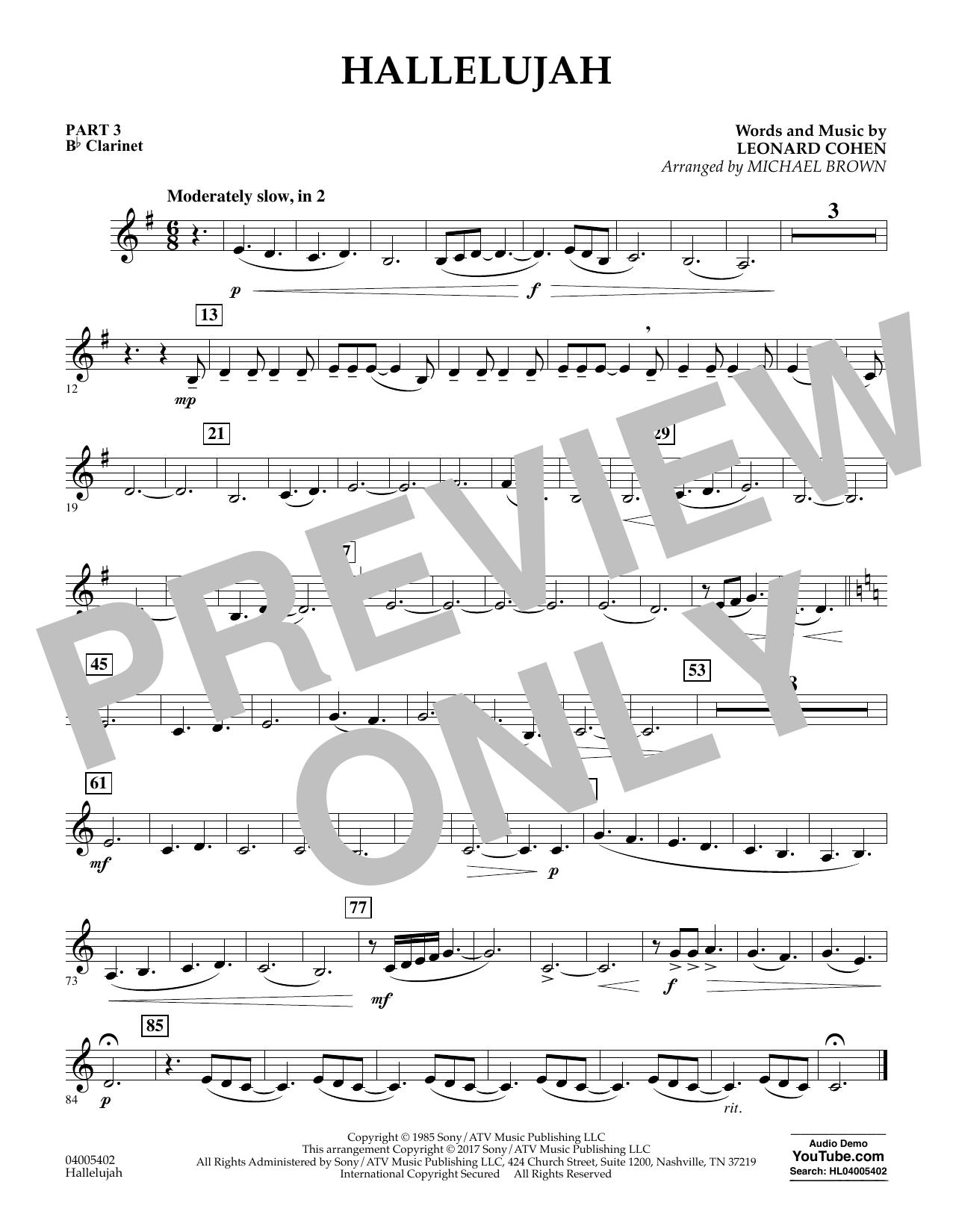 Hallelujah - Pt.3 - Bb Clarinet (Flex-Band)
