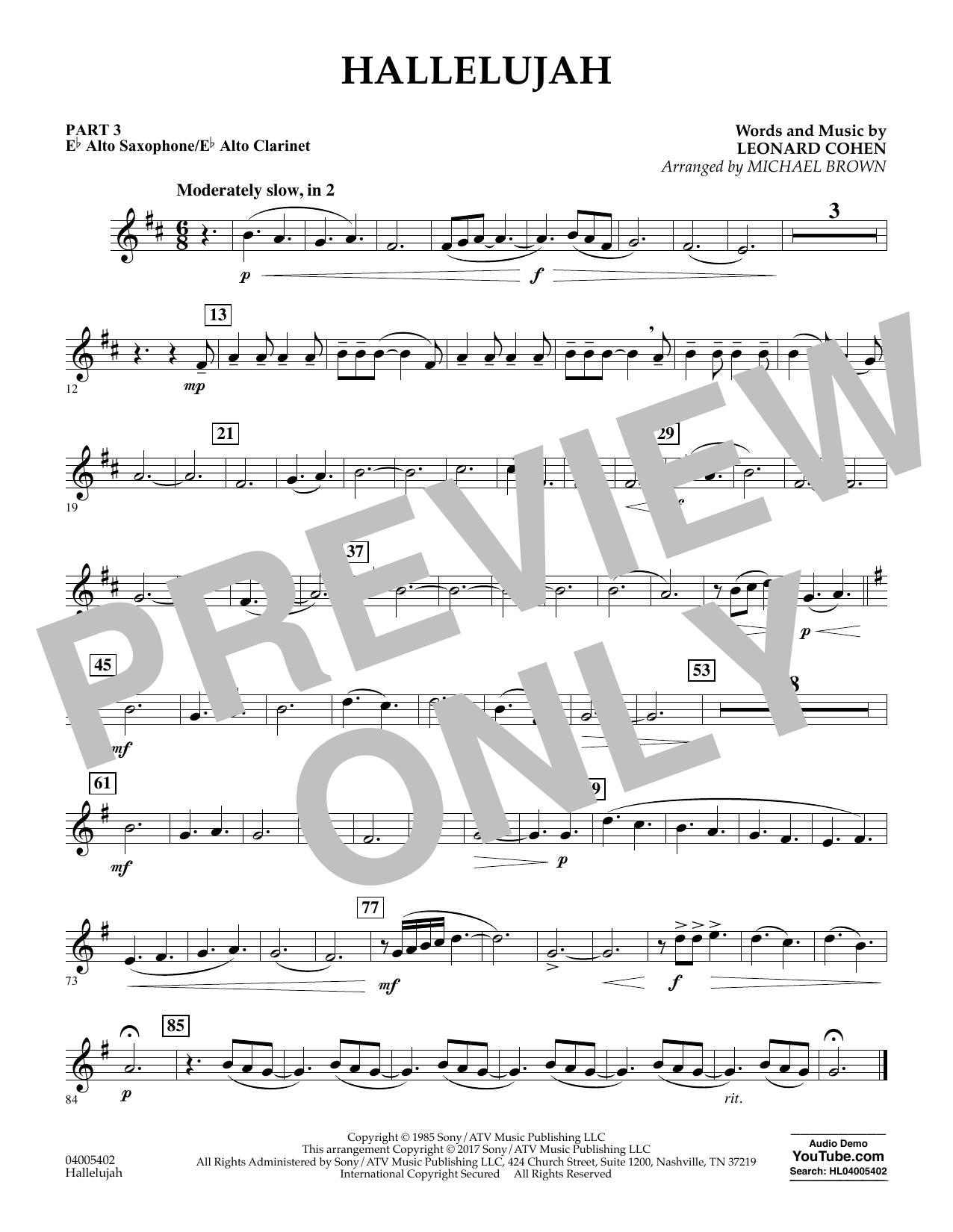 Hallelujah - Pt.3 - Eb Alto Sax/Alto Clar. (Flex-Band)