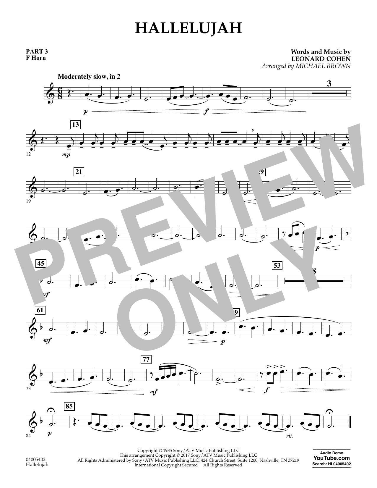Hallelujah - Pt.3 - F Horn (Flex-Band)