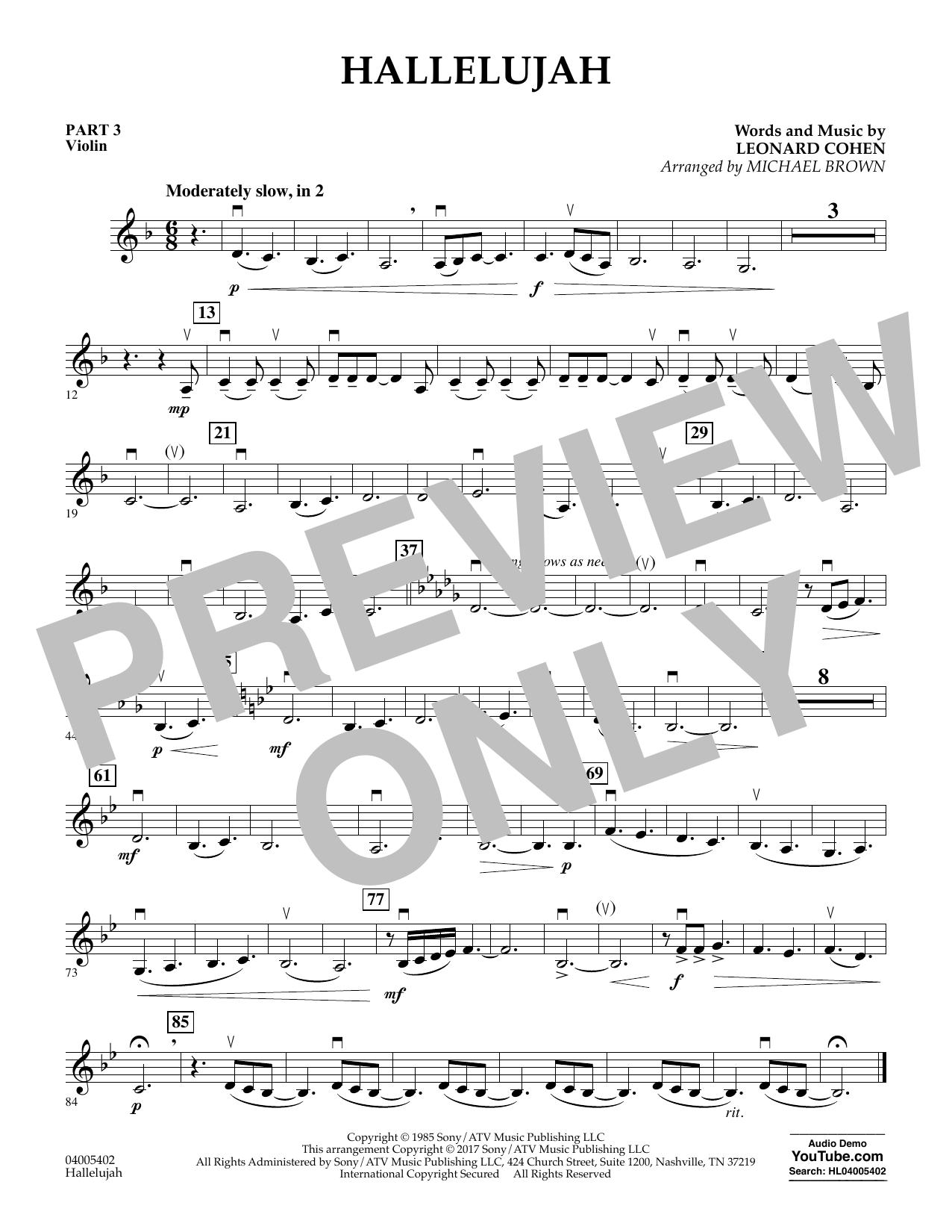 Hallelujah - Pt.3 - Violin (Concert Band: Flex-Band)
