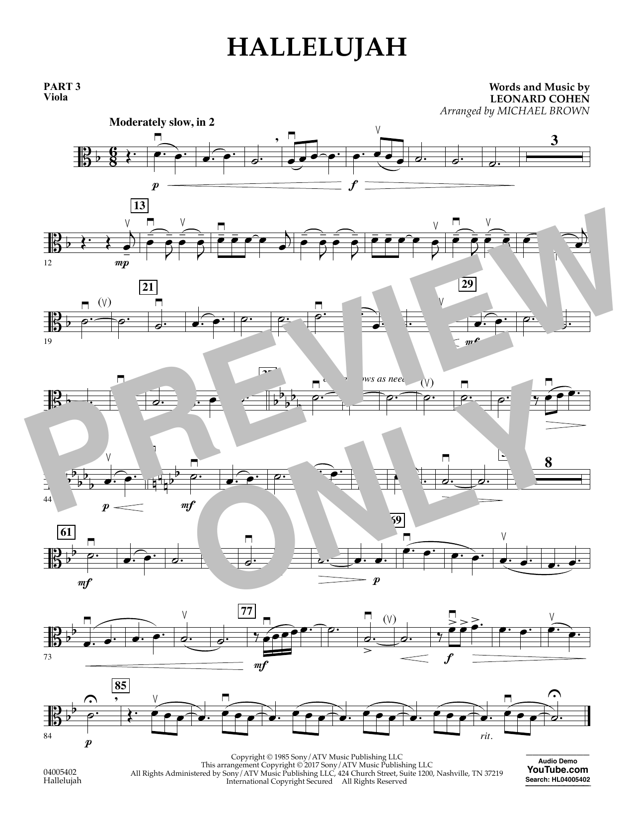 Hallelujah - Pt.3 - Viola (Flex-Band)