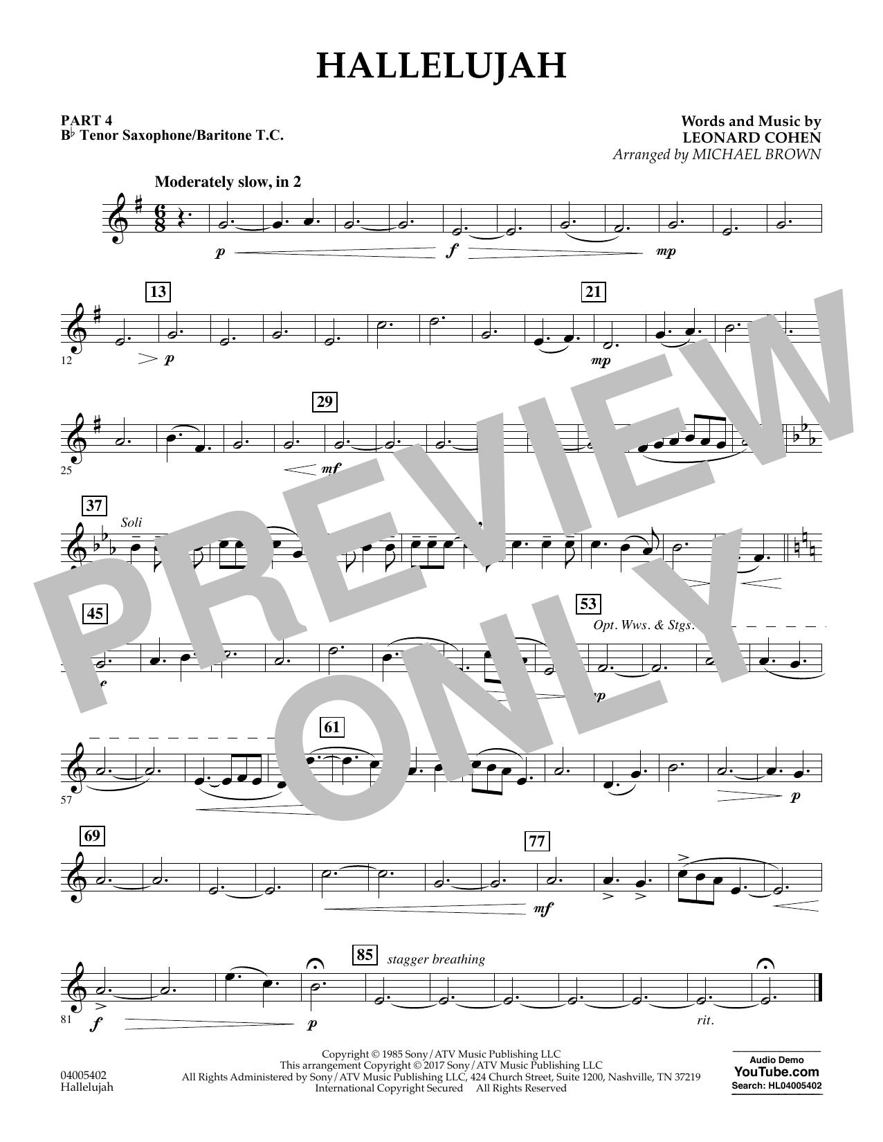 Hallelujah - Pt.4 - Bb Tenor Sax/Bar. T.C. (Flex-Band)