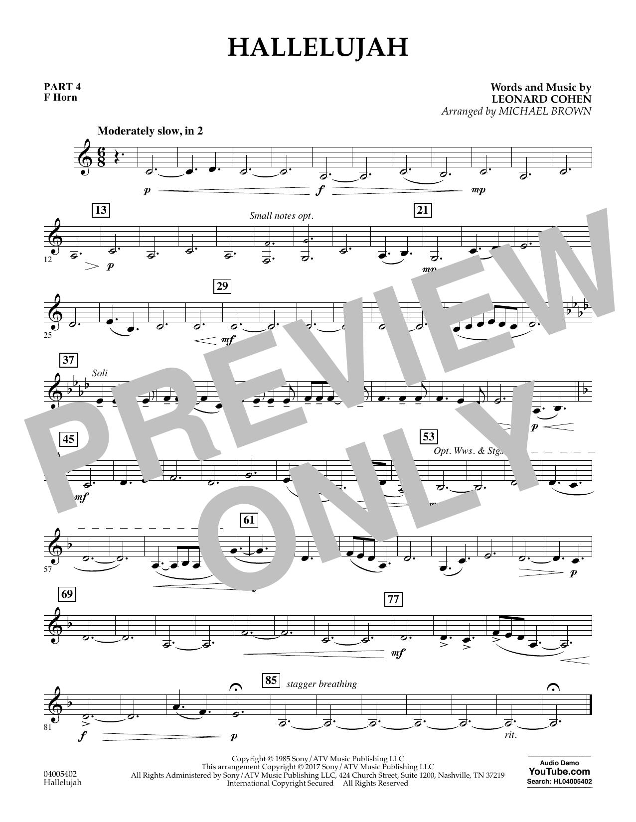 Hallelujah - Pt.4 - F Horn (Flex-Band)
