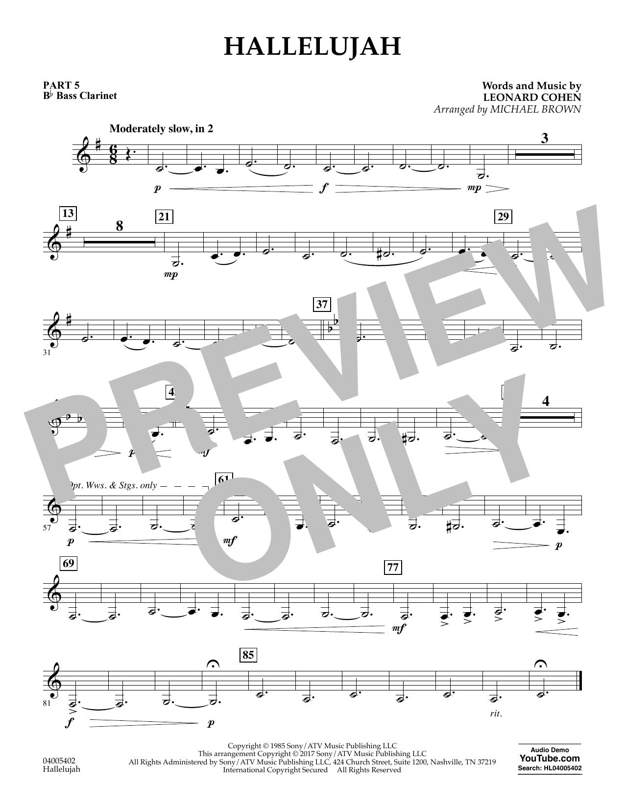 Hallelujah - Pt.5 - Bb Bass Clarinet (Flex-Band)