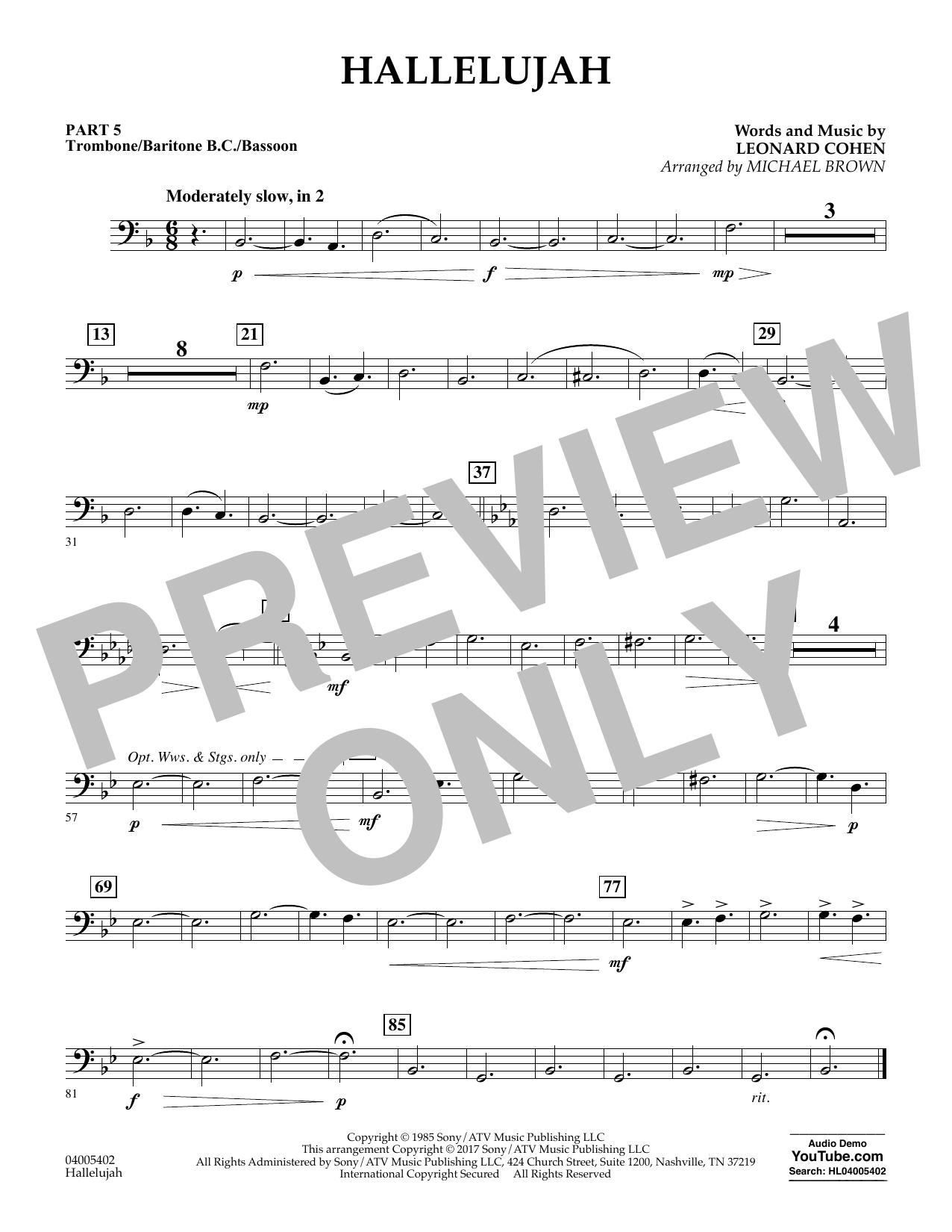 Hallelujah - Pt.5 - Trombone/Bar. B.C./Bsn. (Flex-Band)