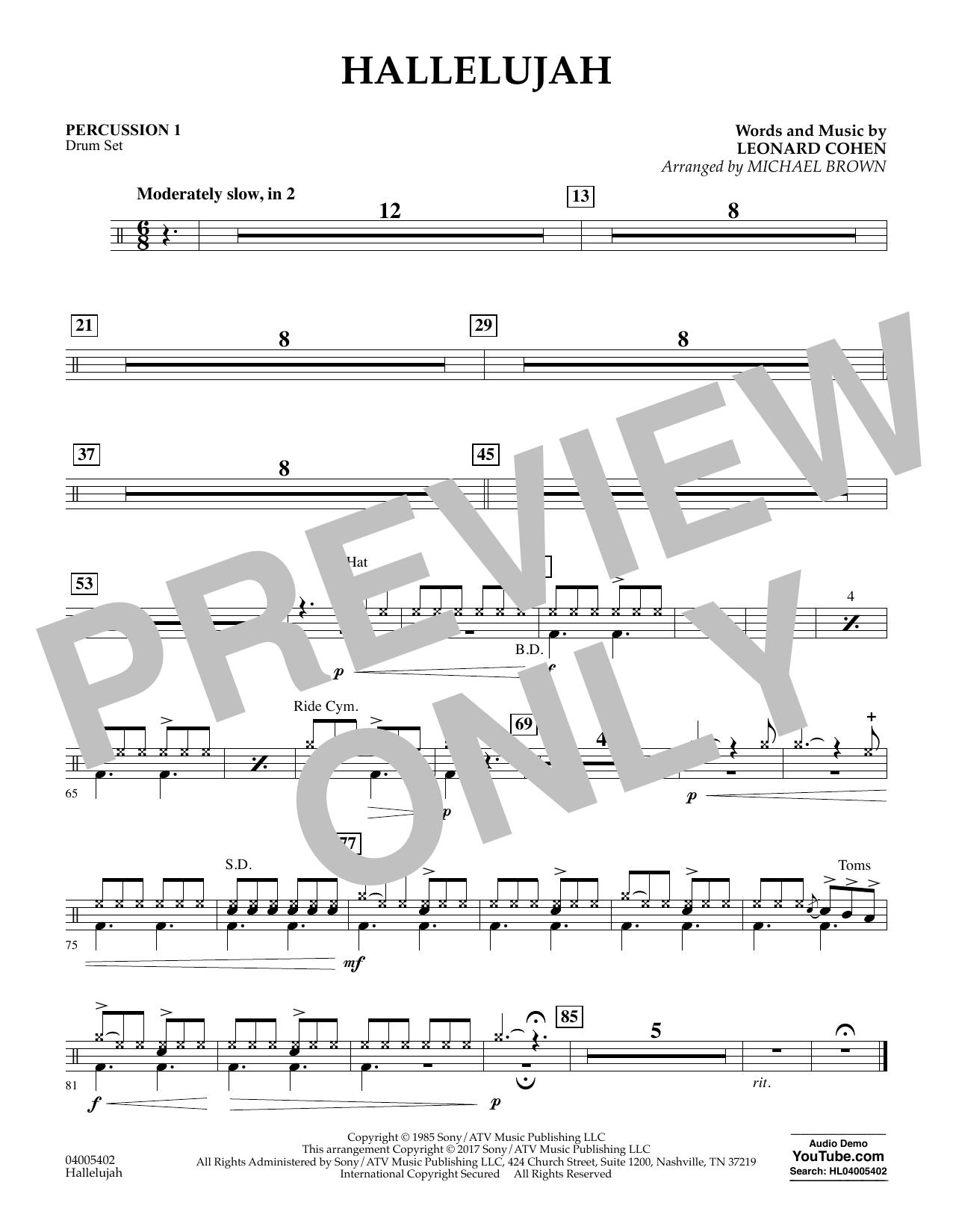 Hallelujah - Percussion 1 (Flex-Band)