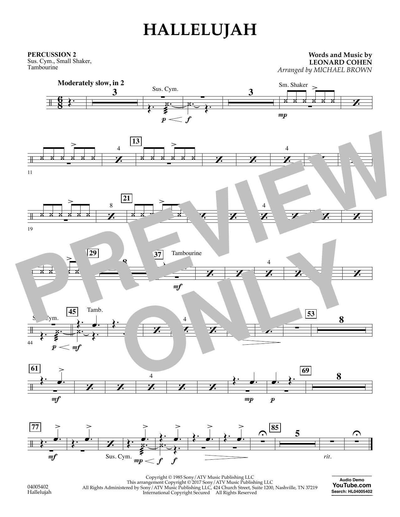 Hallelujah - Percussion 2 (Flex-Band)
