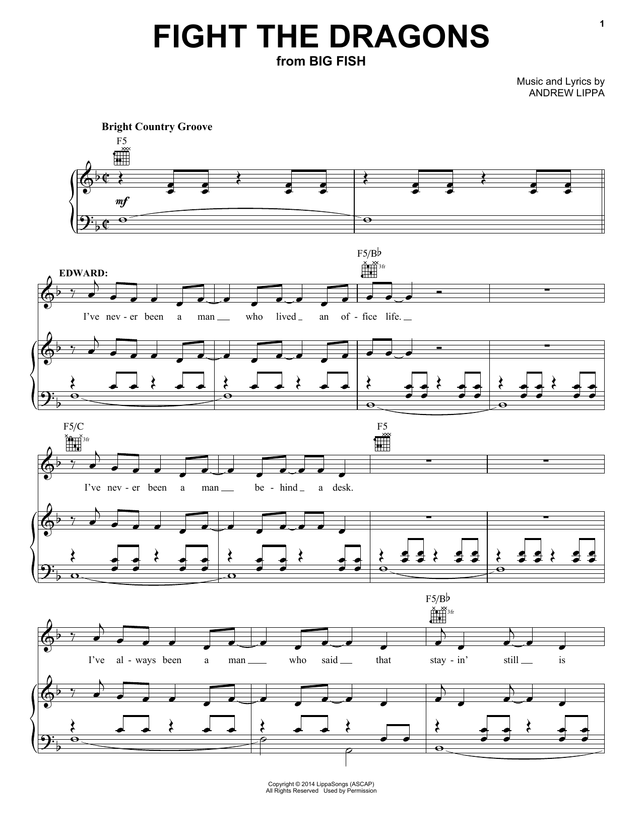 Fight The Dragons (Piano, Vocal & Guitar (Right-Hand Melody))