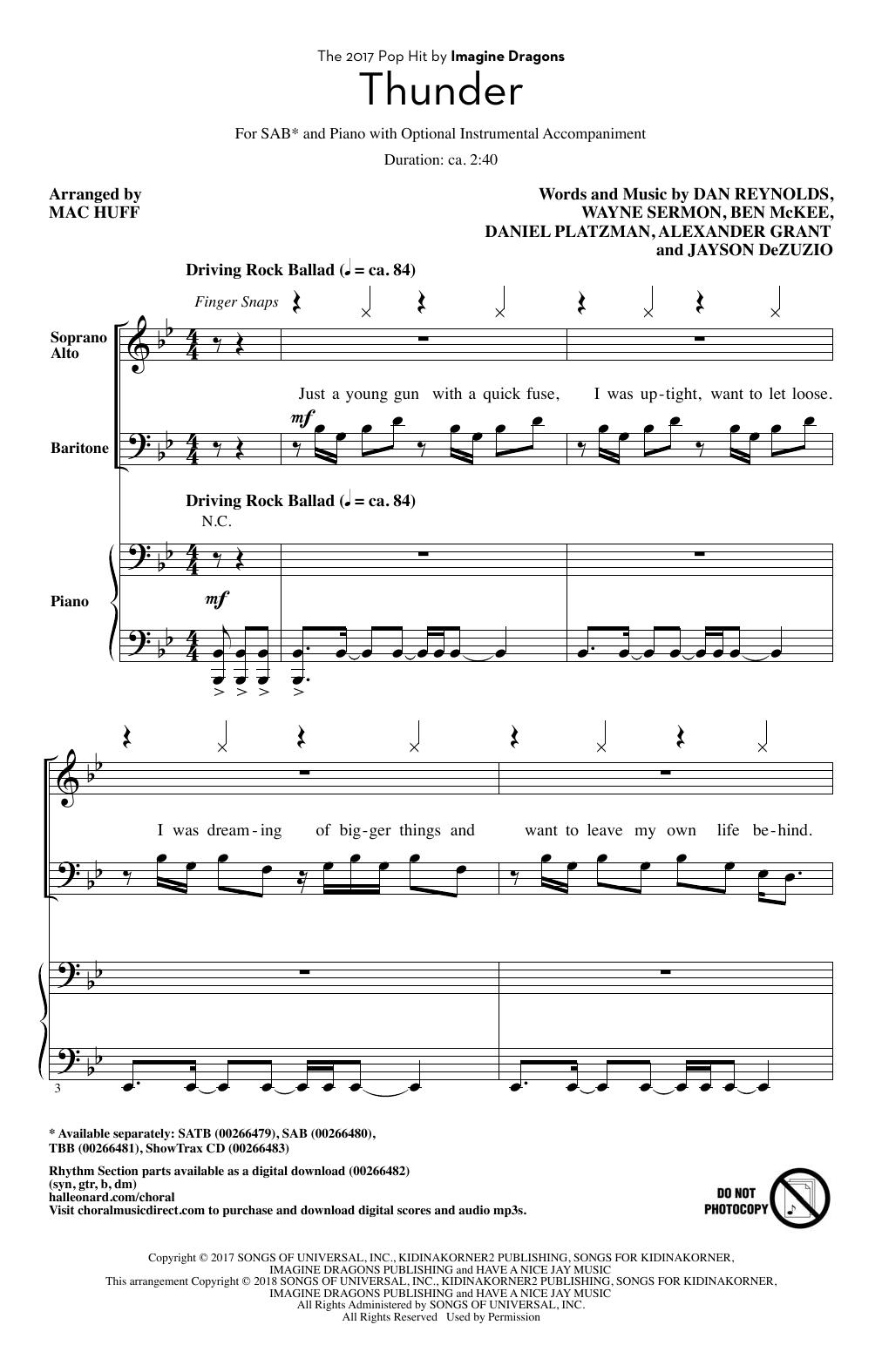 Thunder Sheet Music