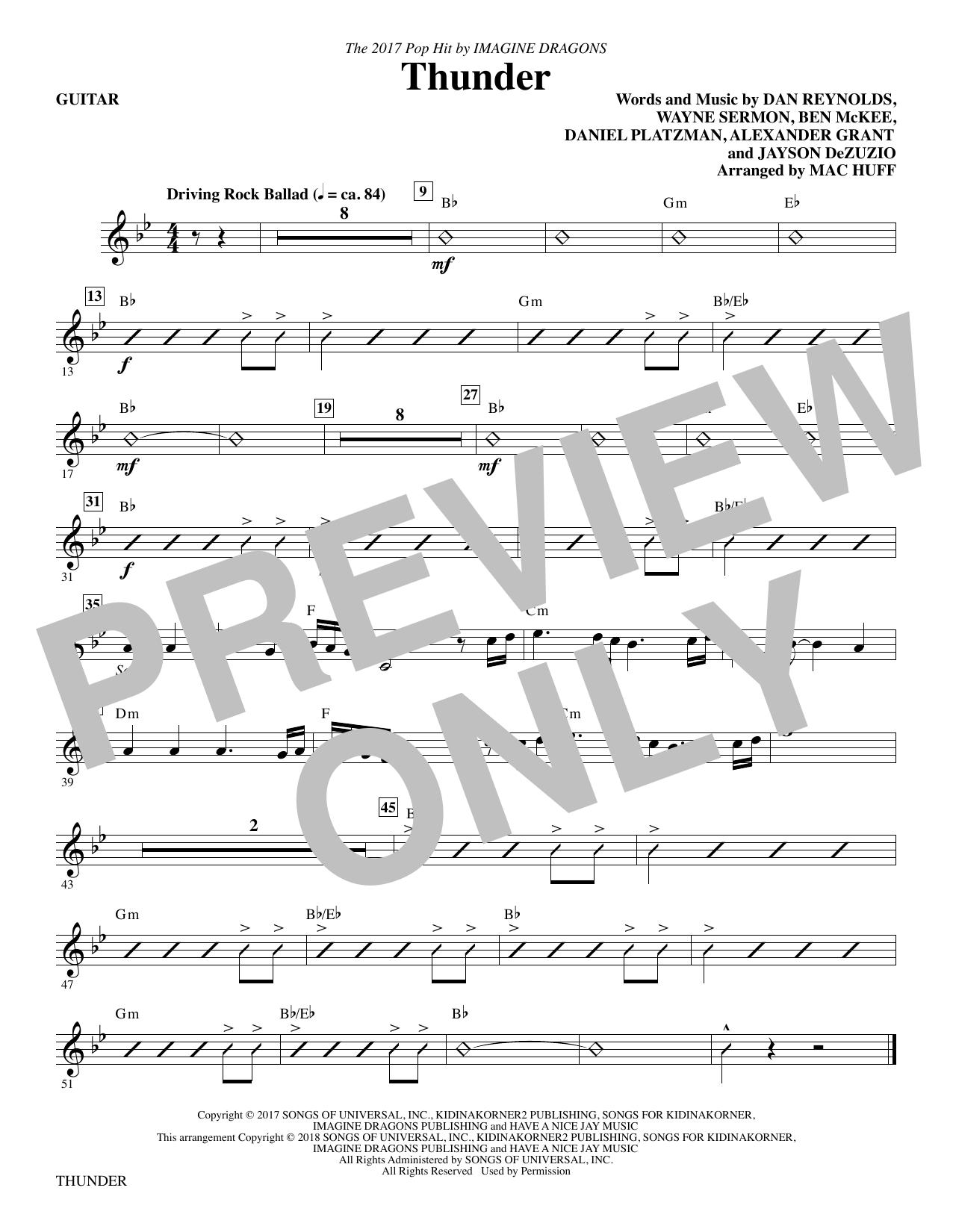 Thunder - Guitar (Choir Instrumental Pak)