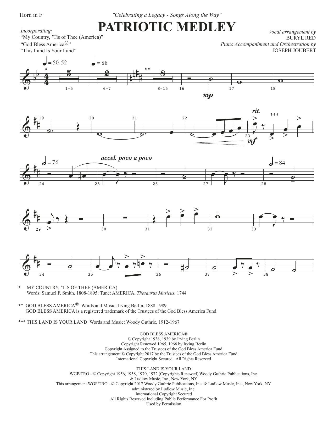 Patriotic Medley - F Horn Partition Digitale