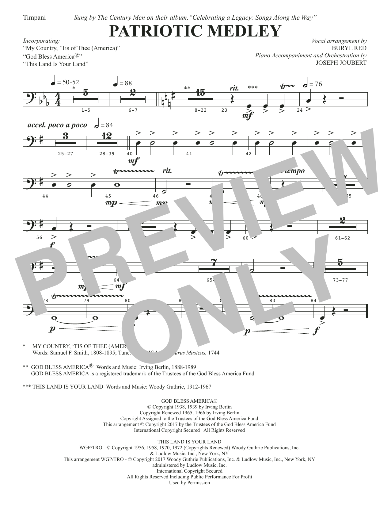 Patriotic Medley - Timpani (Choir Instrumental Pak)