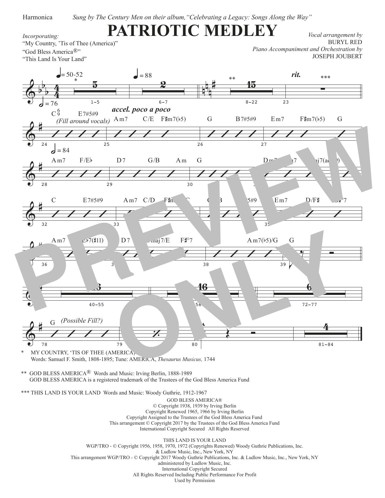 Patriotic Medley - Harmonica (Choir Instrumental Pak)