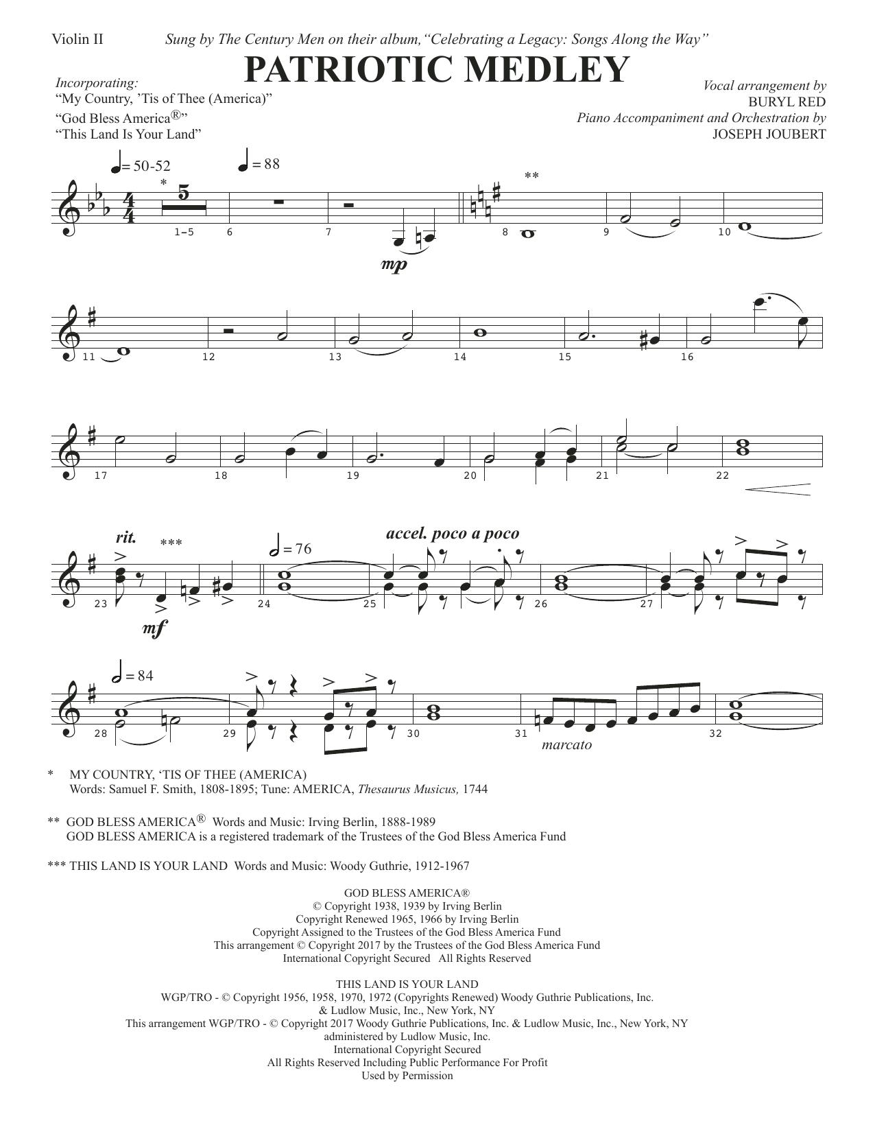 Patriotic Medley - Violin 2 (Choir Instrumental Pak)