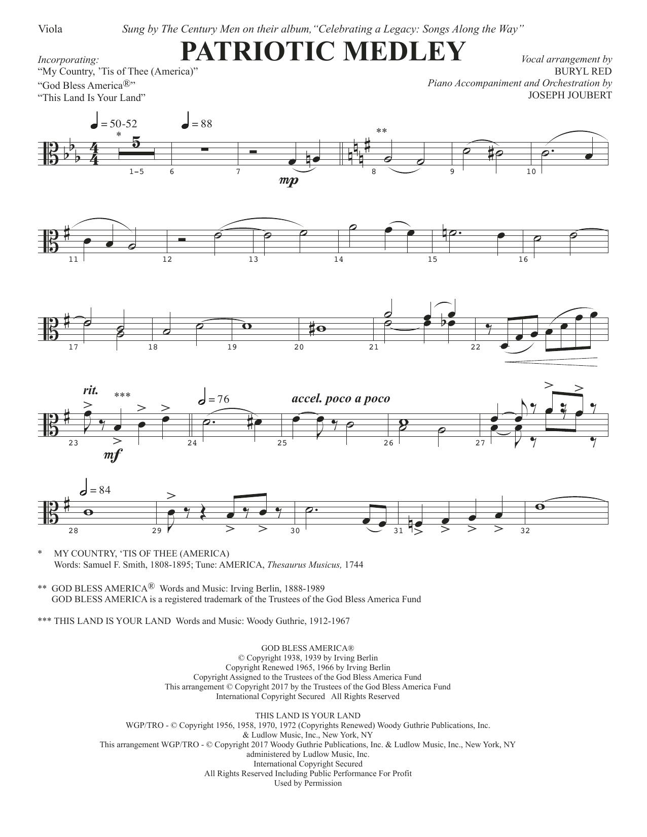 Patriotic Medley - Viola (Choir Instrumental Pak)