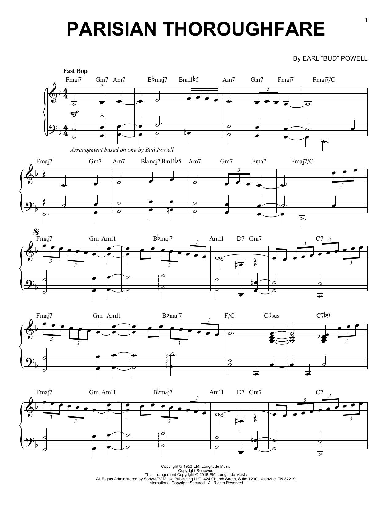 Parisian Thoroughfare (Piano Solo)