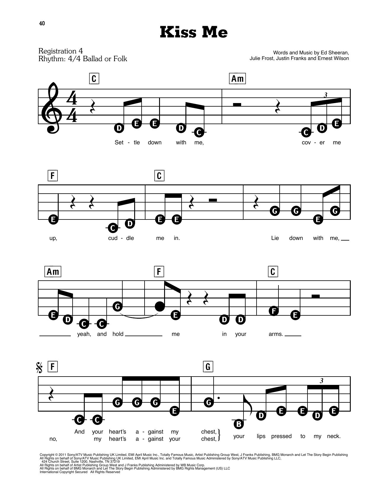 Kiss Me Sheet Music