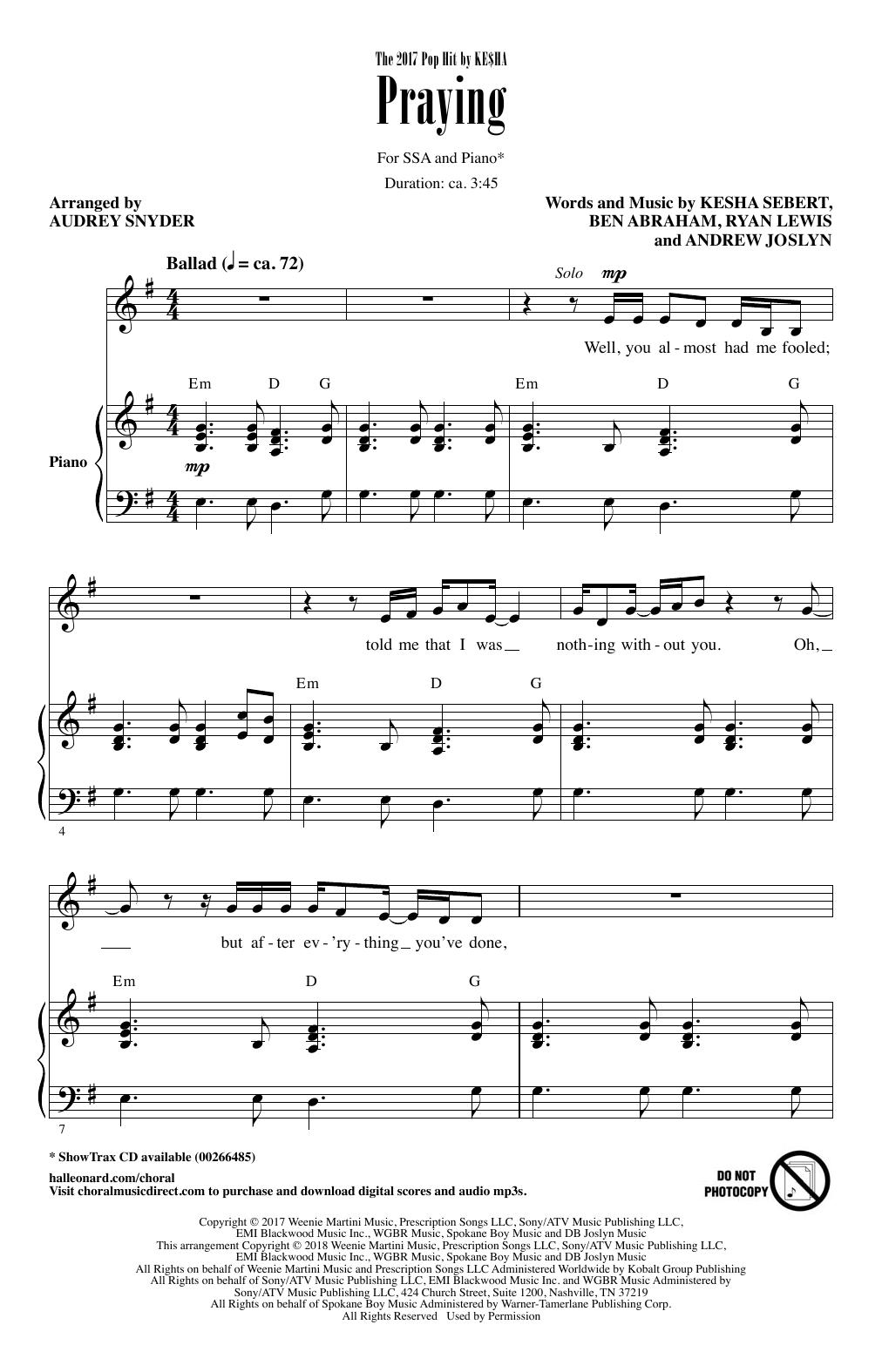 Praying (SSA Choir)