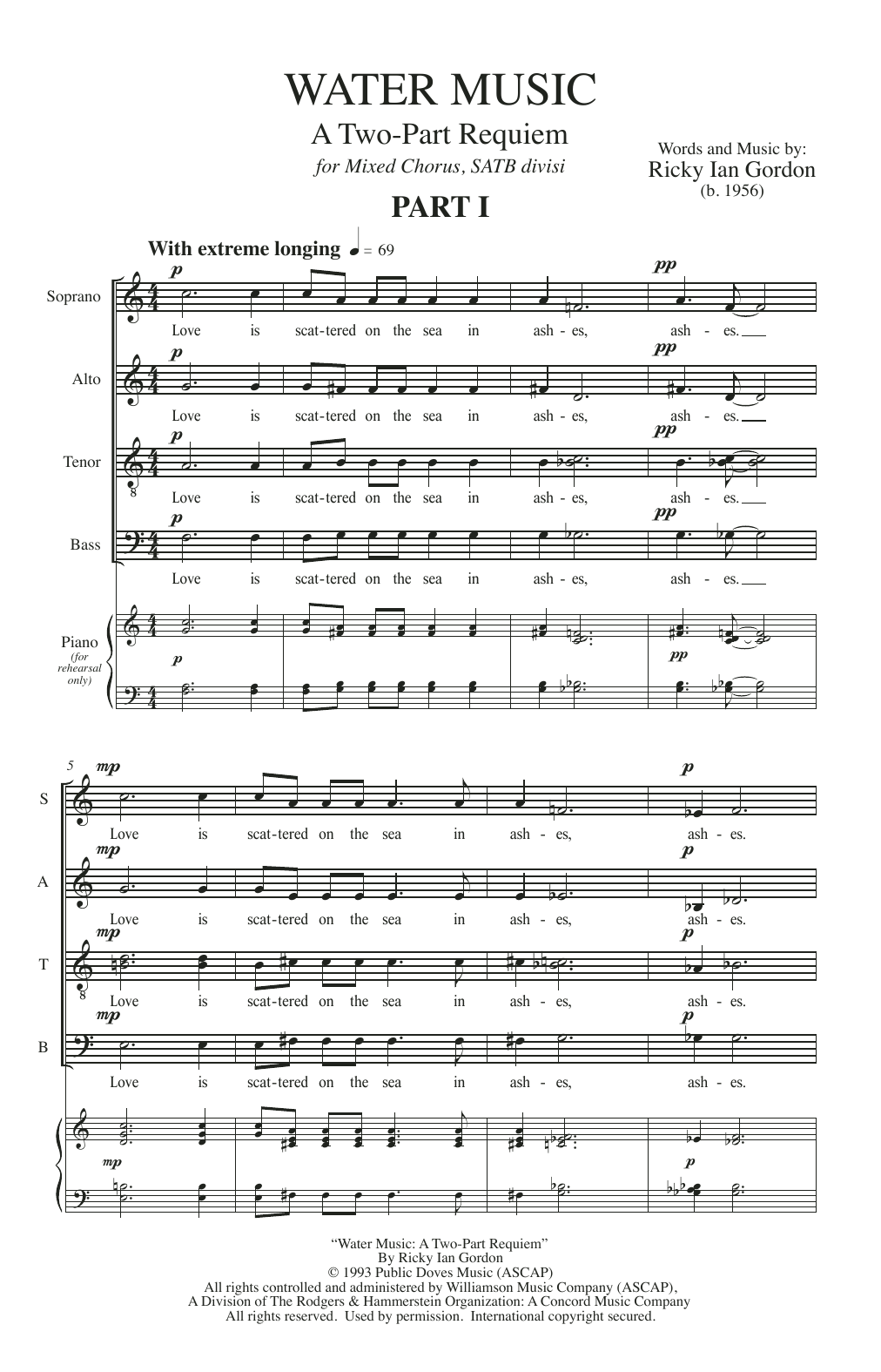 Water Music (SATB Choir)