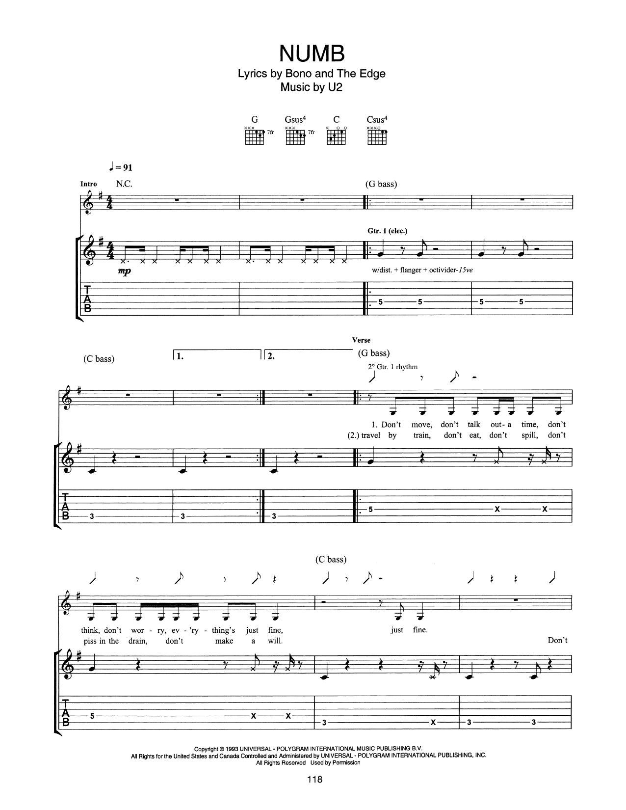 Numb Sheet Music