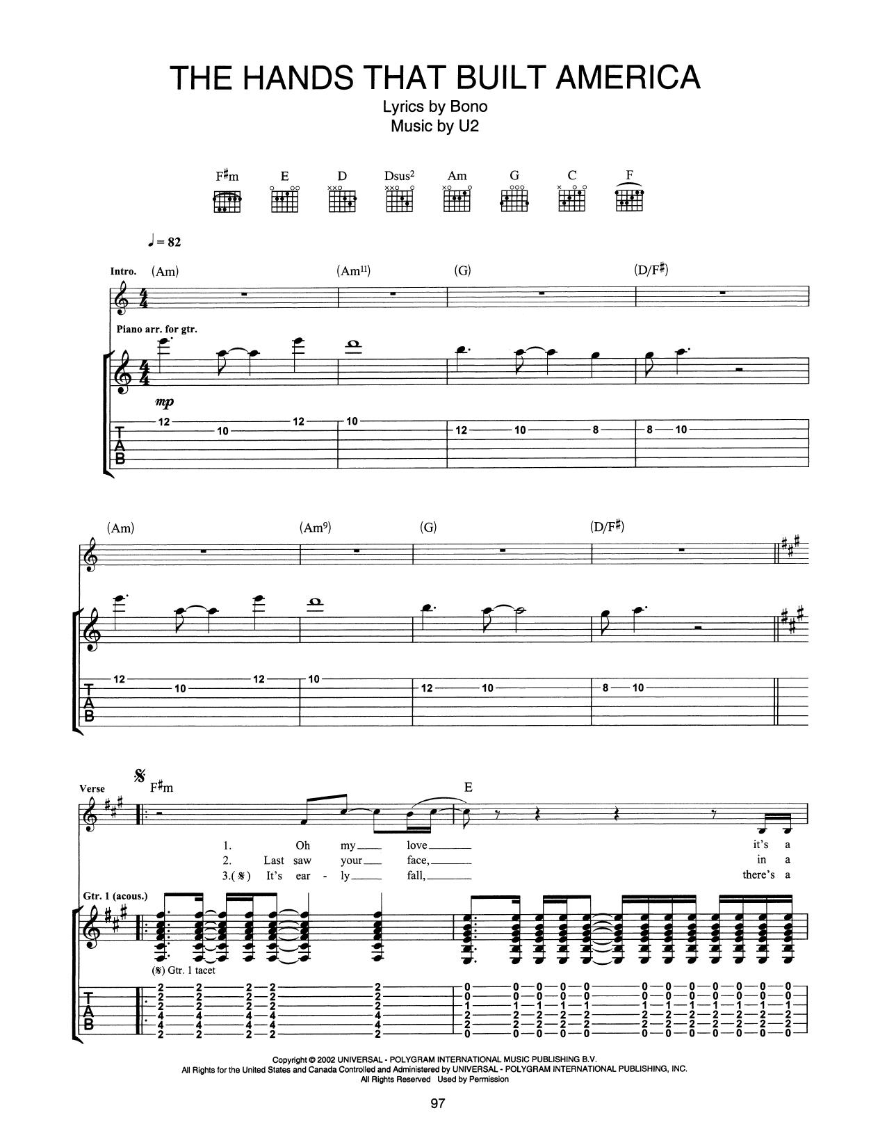 The Hands That Built America Sheet Music