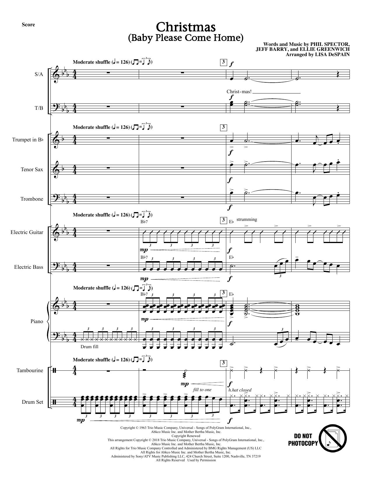 Christmas (Baby, Please Come Home) - Full Score (Choir Instrumental Pak)