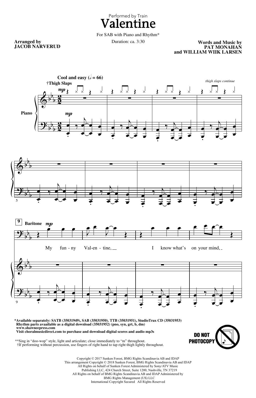 Valentine Sheet Music