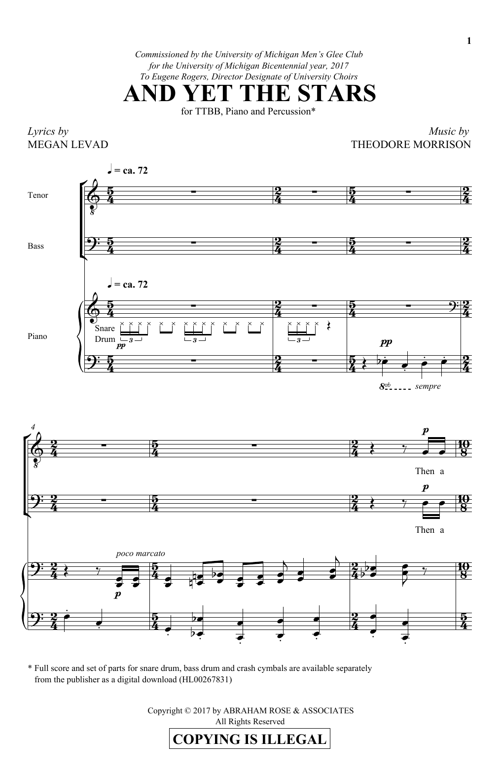 And Yet The Stars Sheet Music