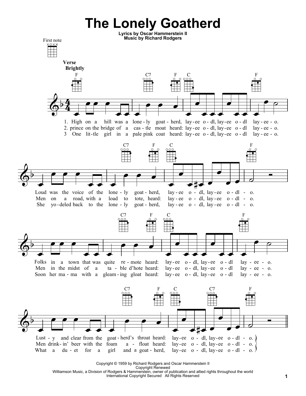 Sheet Music Digital Files To Print - Licensed Ukulele