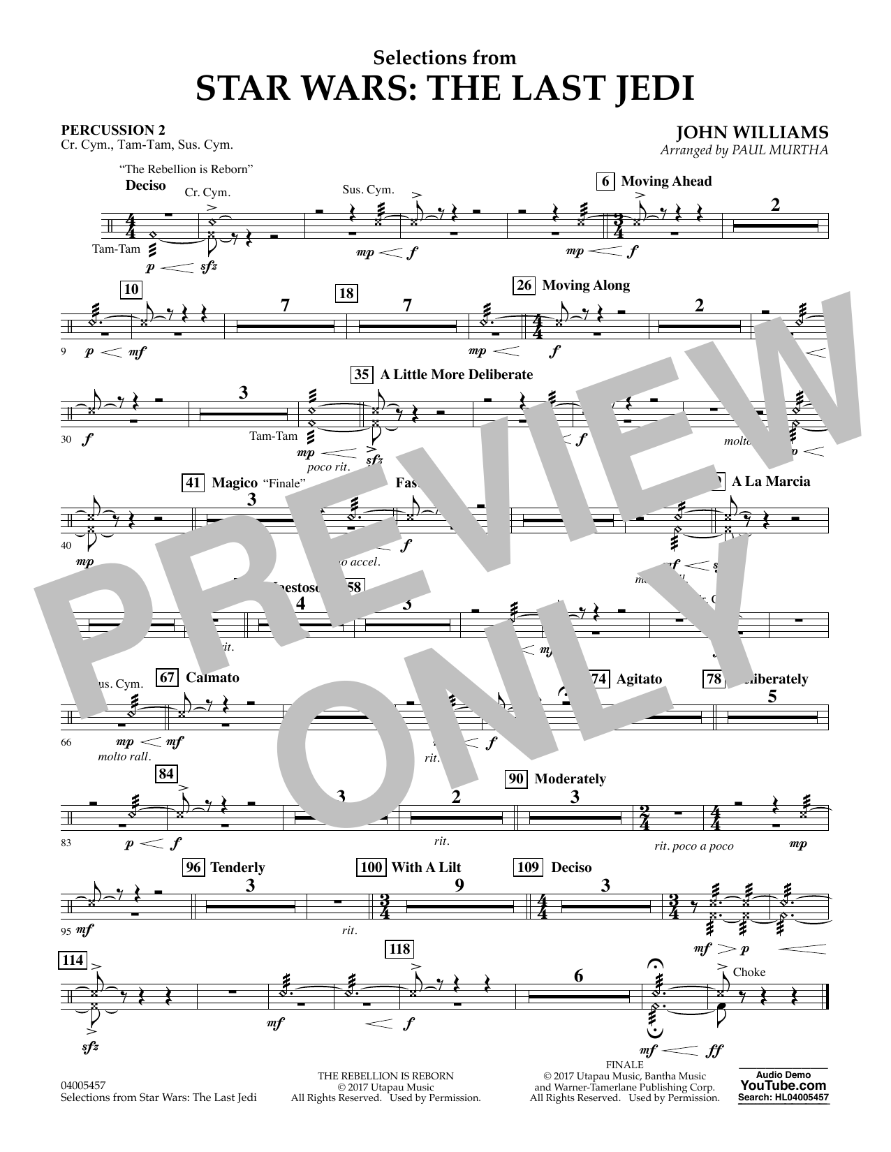 Selections from Star Wars: The Last Jedi - Percussion 2 (Flex-Band)