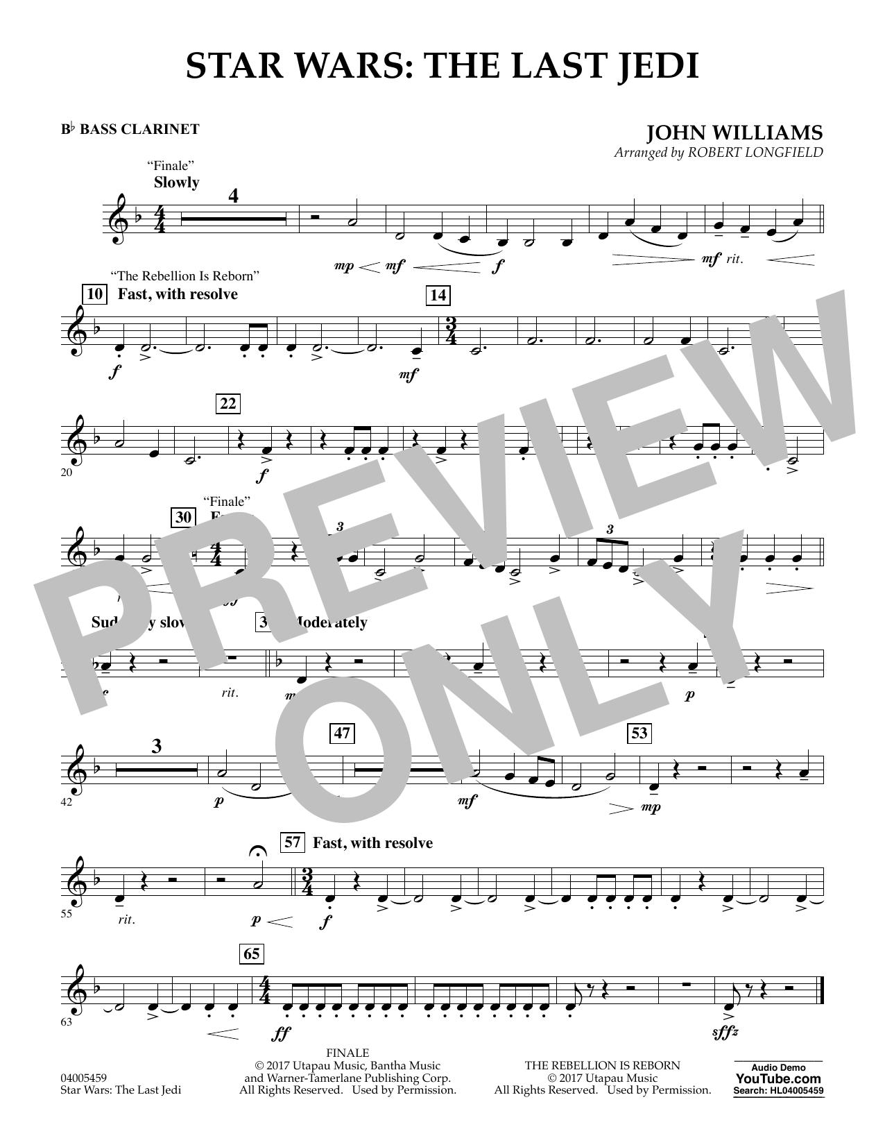 Star Wars: The Last Jedi - Bb Bass Clarinet (Concert Band)