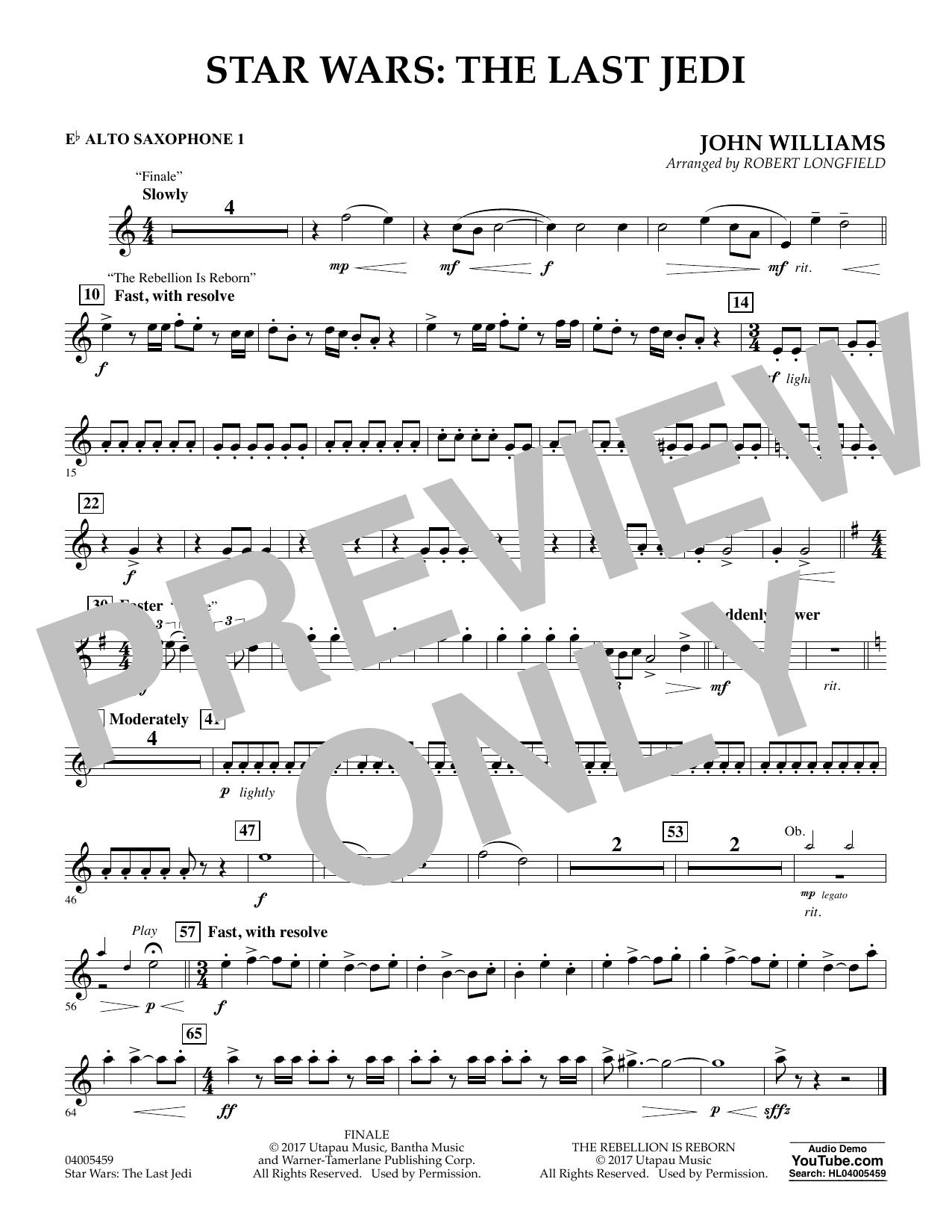 Star Wars: The Last Jedi - Eb Alto Saxophone 1 (Concert Band)