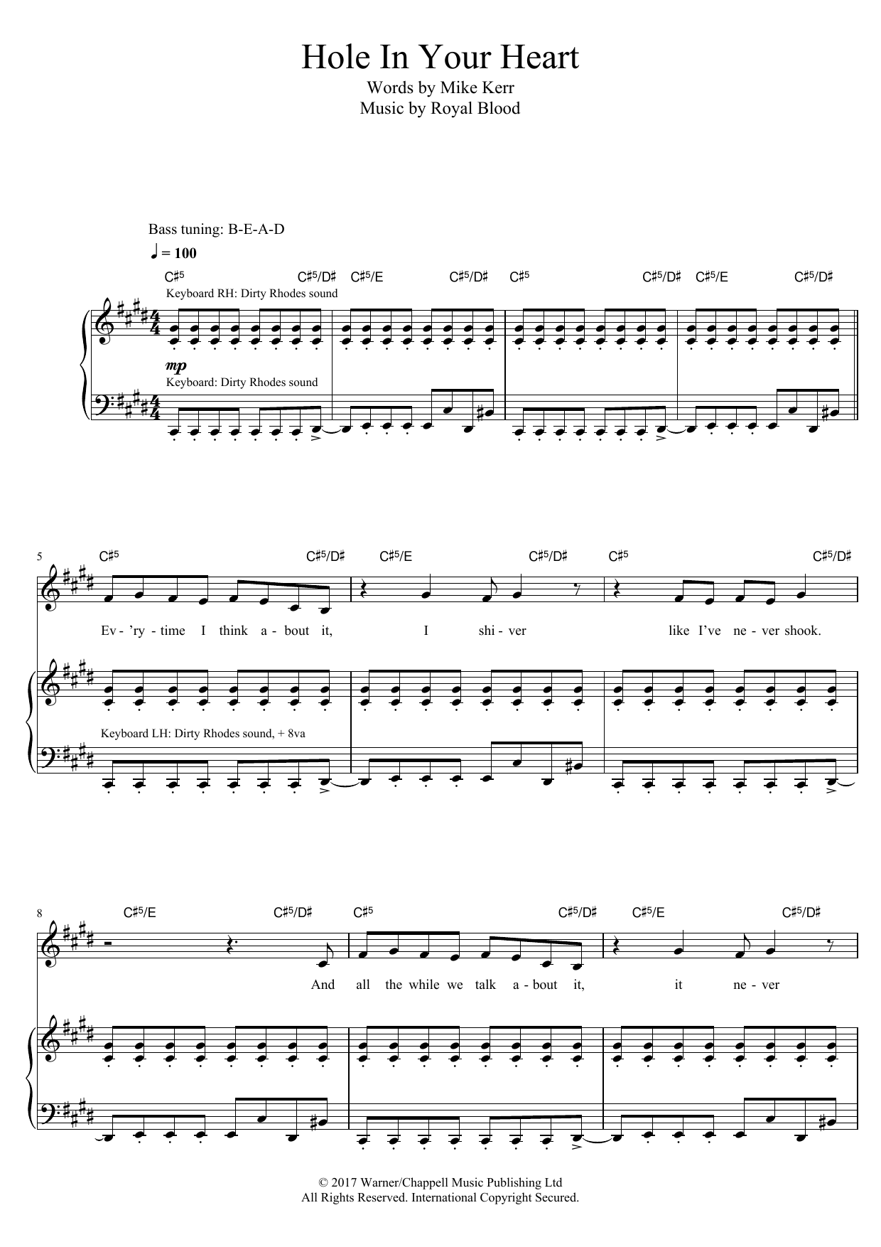 Hole In Your Heart Sheet Music