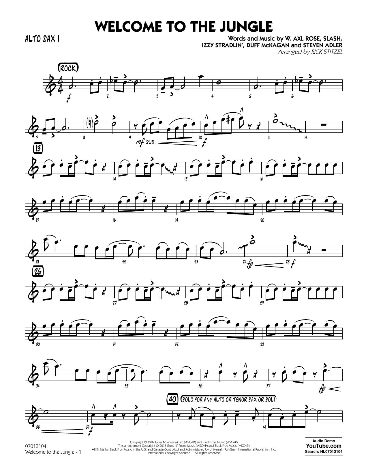 Welcome to the Jungle - Alto Sax 1 (Jazz Ensemble)
