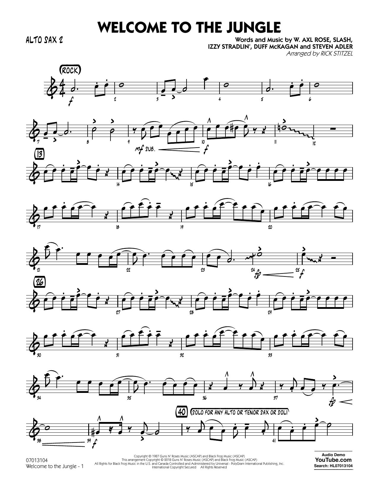 Welcome to the Jungle - Alto Sax 2 (Jazz Ensemble)